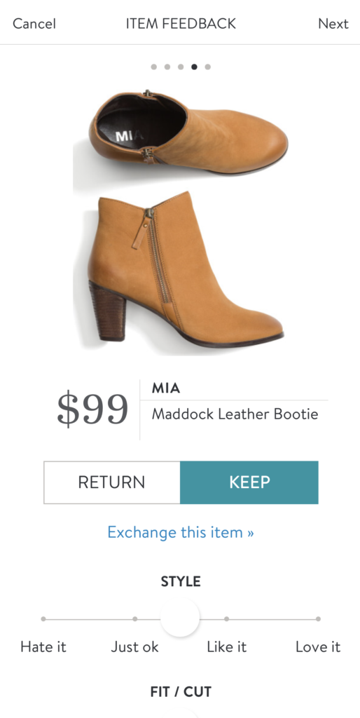 stitch fix leather bootie mia