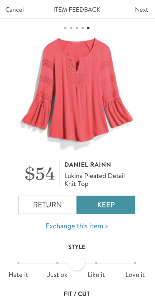 stitch fix daniel rainn coral blouse