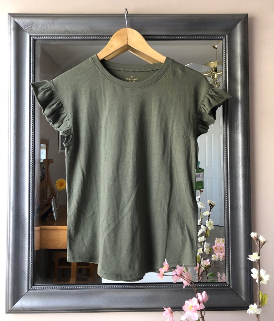 stitch fix olive ruffled tee kate spade