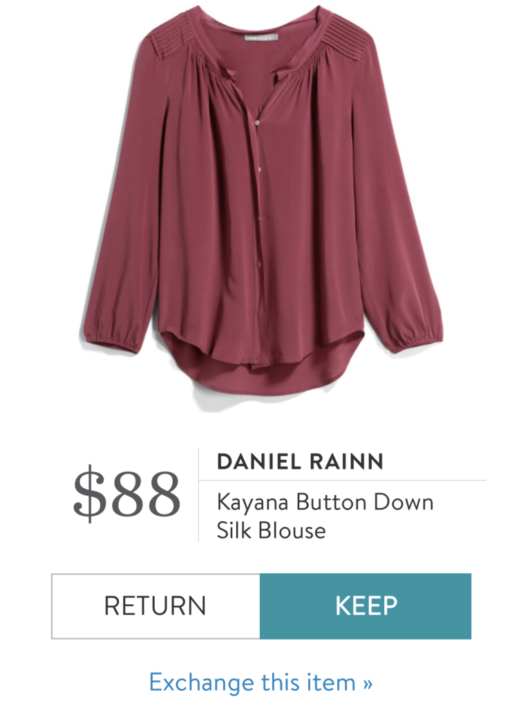 Stitch Fix Daniel Rainn Silk Blouse