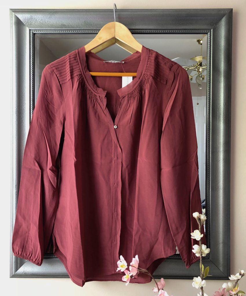 "Daniel Rainn ""Kayana"" Button Down Silk Blouse 